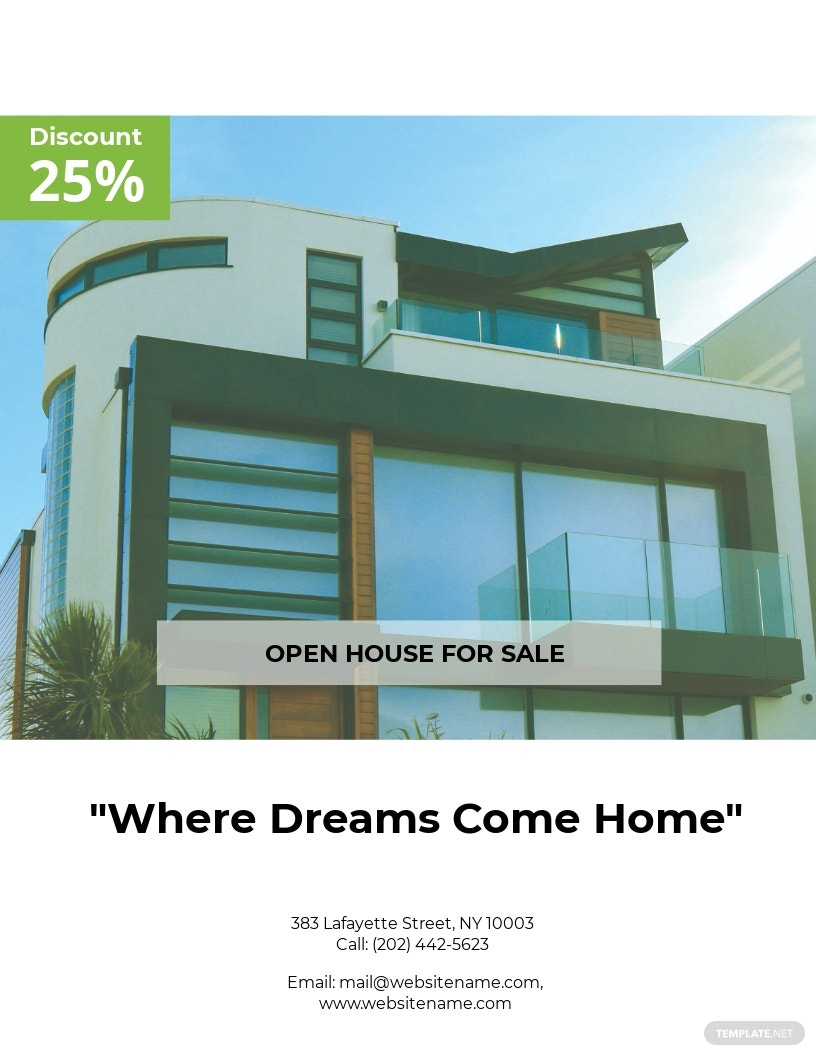 Free Country House Real Estate Flyer Template.jpe
