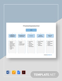 Free IT Functional Organizational Chart Template