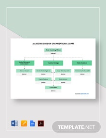 Free Marketing Division Organizational Chart Template