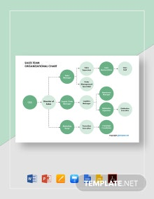 Free Sales Team Organizational chart Template