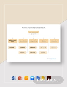 Free Marketing Department Organizational Chart Template