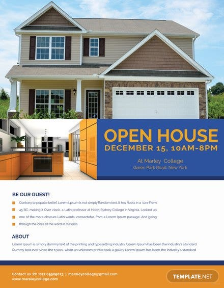 Mortgage Open House Flyer Template in Adobe Photoshop, Illustrator ...