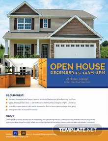 FREE Mortgage Open House Flyer Template