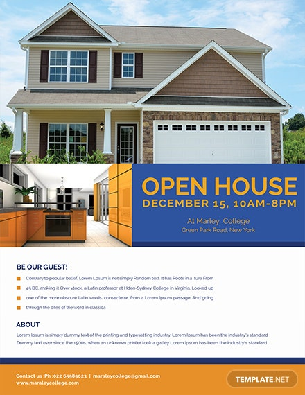 mortgage open house flyer template 1x