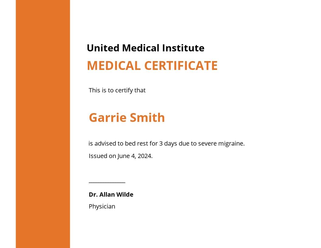 Printable Medical Certificate Template.jpe