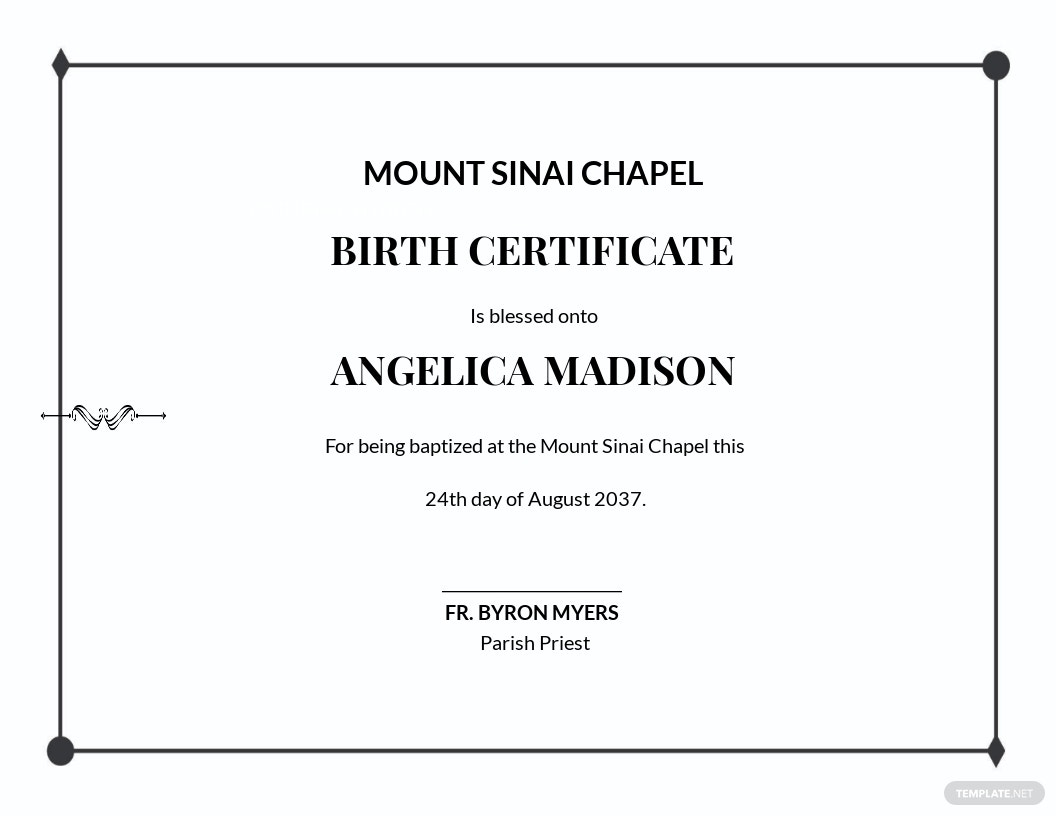 Simple Baptism Certificate Template.jpe