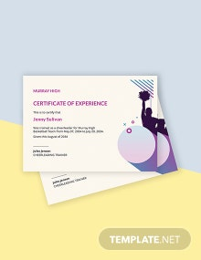 Sports Cheerleading Certificate Template