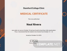 Student Medical Certificate For Sick Leave Template