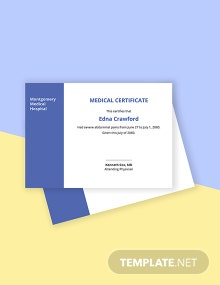 Student Medical Certificate Template