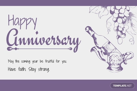 Hand Drawn Anniversary Card Template