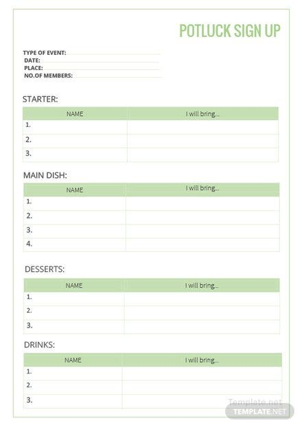 potluck sign up sheet template download 239 sheets in word pdf