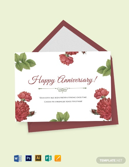 Marriage Anniversary Card Template