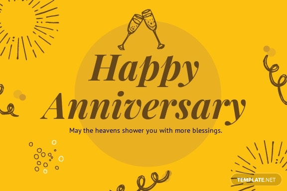 Printable Anniversary Card Template