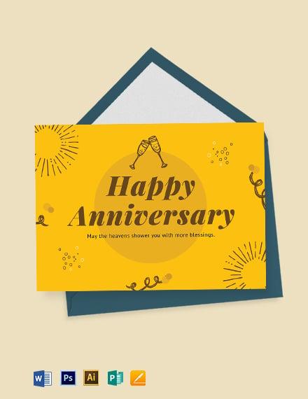 Printable Anniversary Card Template
