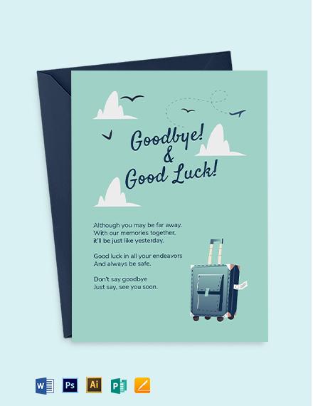 Printable Farewell Card Template