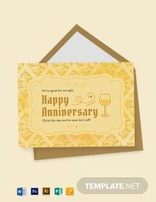 Vintage Anniversary Card Template