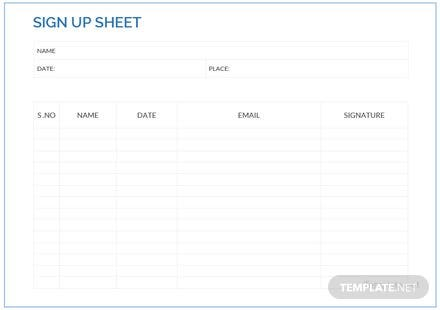 sample sign up sheet template download 239 sheets in word pdf