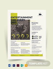 One Page Media Kit Template