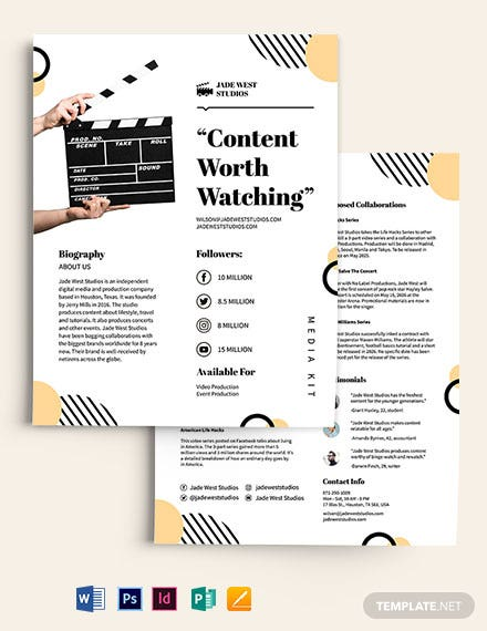 Simple Media Kit Template