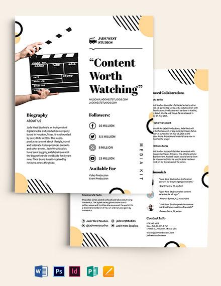 Simple Media Kit Template