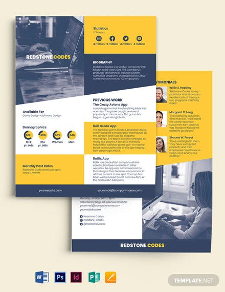 Startup Media Kit Template