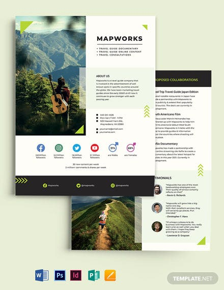 Travel Media Kit Template