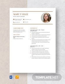 Hotel Night Auditor Resume Template
