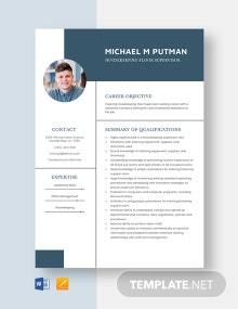 Housekeeping Floor Supervisor Resume Template