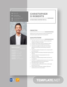 HR Business Partner Retail Resume Template