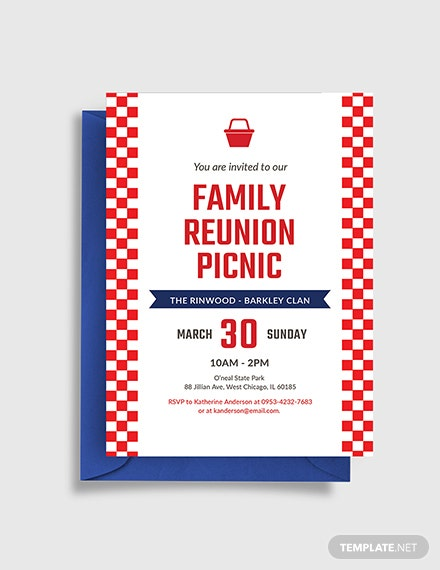 Free Family Reunion Picnic Invitation Template
