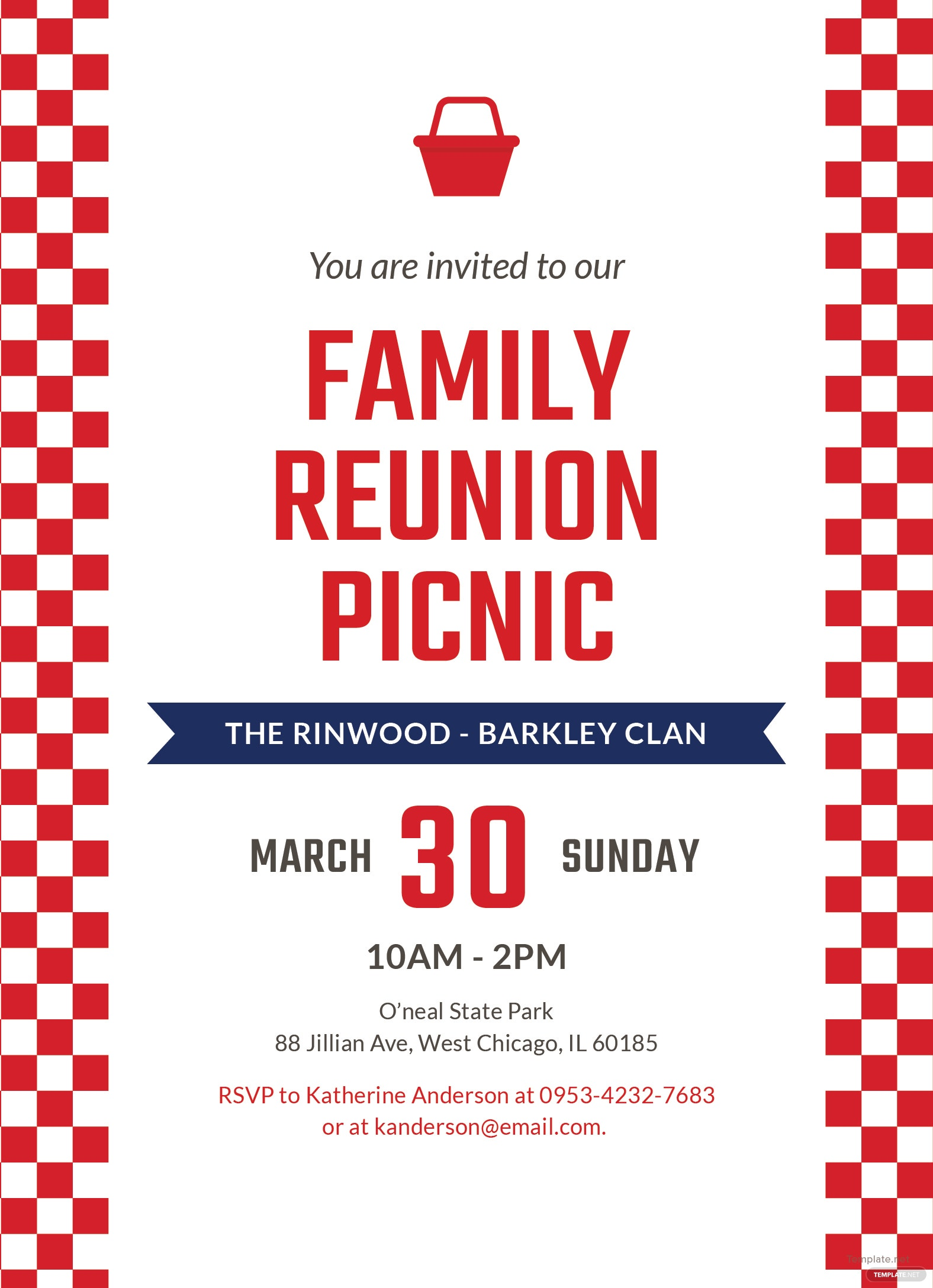 family reunion picnic invitation template in adobe