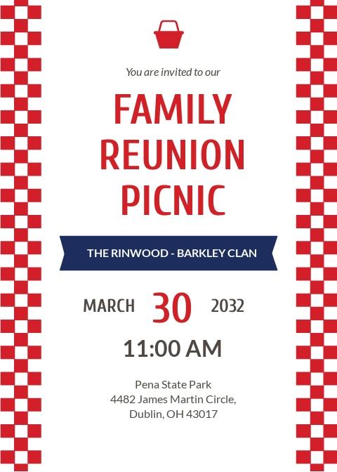 Free Family Reunion Picnic Invitation Template.jpe