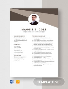 Operations Account Manager Resume Template