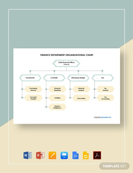 Free Finance Department Organizational Chart Template
