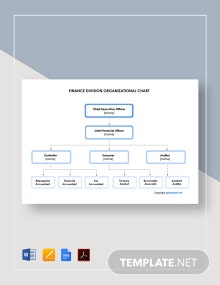 Free Finance Division Organizational Chart Template