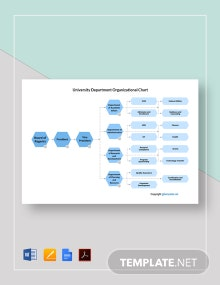 Free University Department Organizational Chart Template