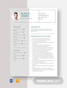 Purchasing Technician Resume Template