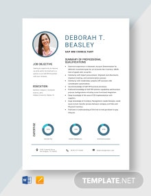 SAP MM Consultant Resume Template