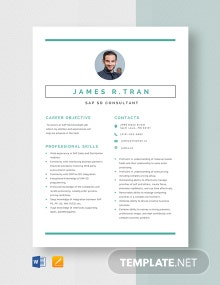 SAP SD Consultant Resume Template