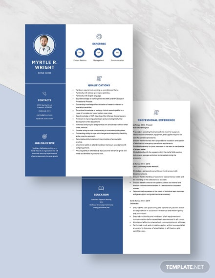 Scrub Nurse Resume Download