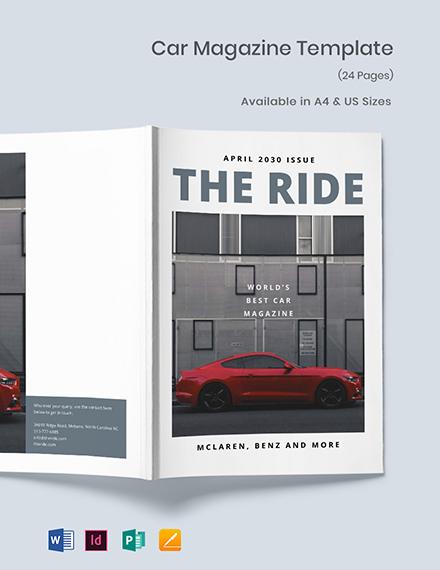 Car Magazine Template