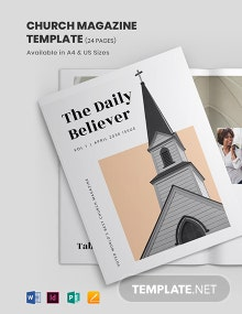 Church Magazine Template