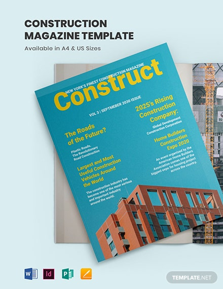 Construction Magazine Template