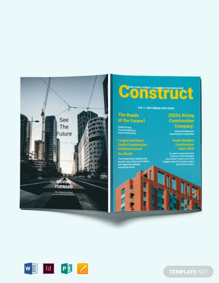 Construction Magazine Template