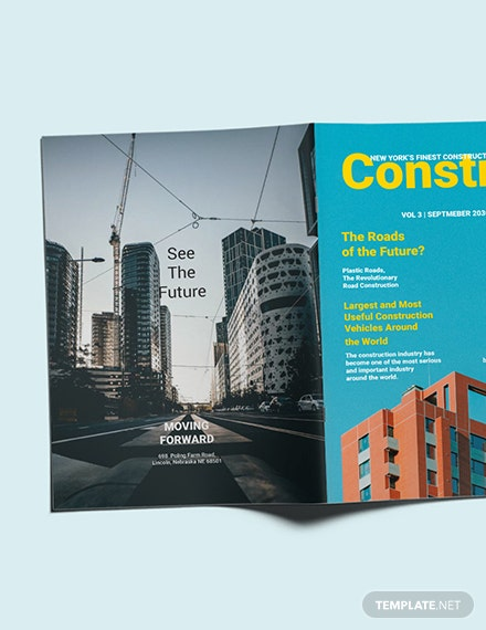 Construction Magazine Template [Free Publisher] - InDesign, Word, Apple Pages