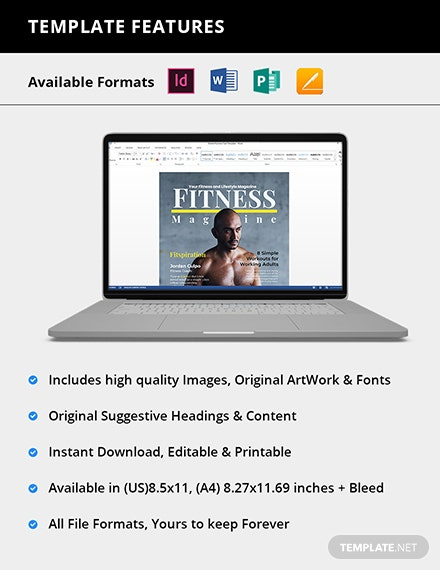 Editable Fitness Magazine