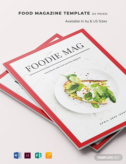 food magazine template 1
