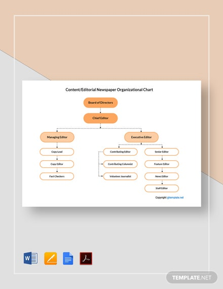 Free Content/Editorial Newspaper Organizational Chart Template
