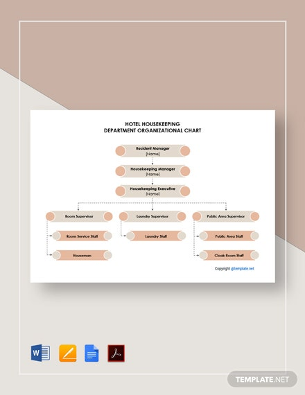Free Hotel Housekeeping Department Organizational Chart Template