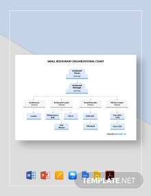 Free Small Restaurant Organizational Chart Template